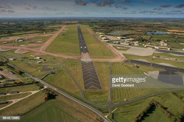 GLOUCESTERSHIRE ENGLAND October 26 2010 Aerial view of RAF Fairford located seven miles south east of Cirencester