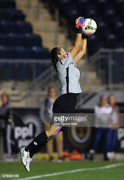 Dinnia Diaz of Costa Rica during the championship match of the CONCACAF Women's World Cup qualifying tournament against the USA at PPL Park in...