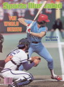 October 27 1980 Sports Illustrated Cover Baseball World Series Philadelphia Phillies Mike Schmidt in action at bat vs Kansas City Royals Game 4...