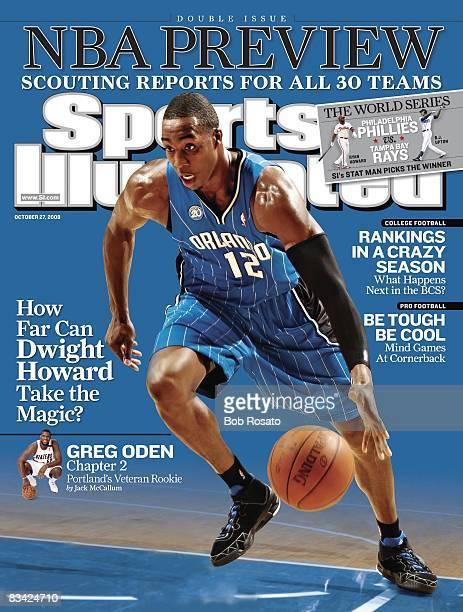 October 27 2008 Sports Illustrated Cover Basketball Orlando Magic Dwight Howard in action vs Charlotte Bobcats Charlotte NC CREDIT Bob Rosato