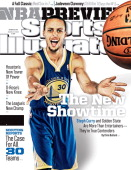 October 28 2013 Sports Illustrated Cover NBA Season Preview Portrait of Golden State Warriors guard Stephen Curry during photo shoot at Oracle Arena...