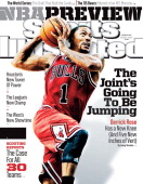 October 28 2013 Sports Illustrated Cover Chicago Bulls Derrick Rose in action vs Indiana Pacers at Bankers Life Fieldhouse NBA Season Preview...