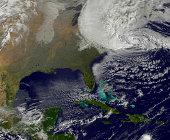 October 29, 2012 - Hurricane Sandy battering the United States East Coast.