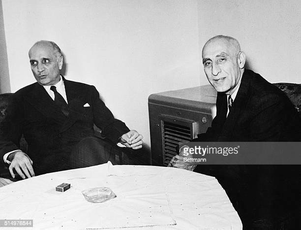 United States ambassador Loy Henderson and Premier Mossadegh