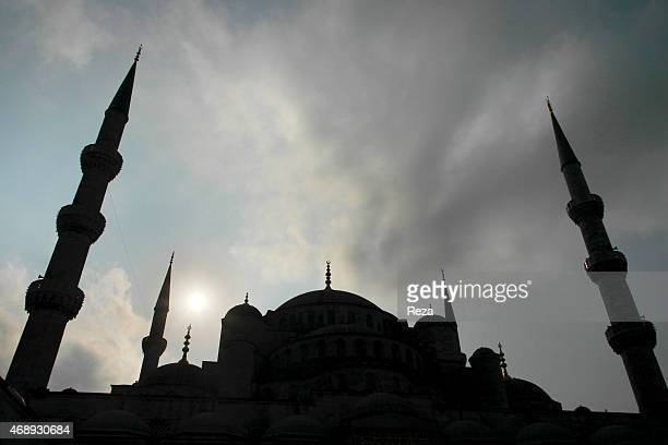 October 5 Sultanahmet Blue Mosque Sultanahmet District Istanbul TurkeyThe facade of the Sultanahmet Blue Mosque with all six of its minarets visible...