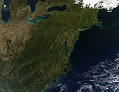 October 8, 2010 - Fall colors in the northeastern United States.