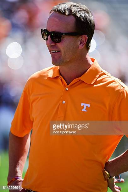 Former Volunteer quarterback Peyton Manning in attendance during the Tennessee Volunteers vs Texas AM Aggies game at Kyle Field College Station Texas