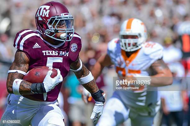 Texas AM Aggies running back Trayveon Williams during the Tennessee Volunteers vs Texas AM Aggies game at Kyle Field College Station Texas