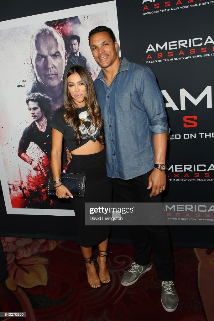 October Gonzalez and Tony Gonzalez attend a Screening of CBS Films and Lionsgate's 'American Assassin' at TCL Chinese Theatre on September 12, 2017 in Hollywood, California.