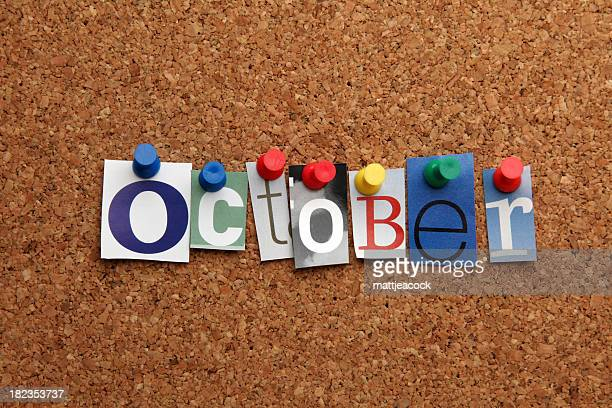 October pinned on noticeboard