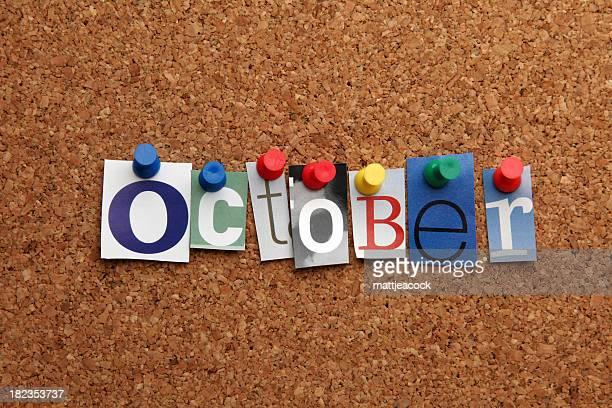 Marquée avec un pin sur noticeboard octobre