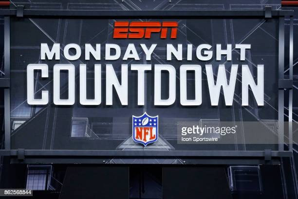 The ESPN Monday Night Countdown logo during an NFL football game between the Indianapolis Colts and the Tennessee Titans on October16 at Nissan...