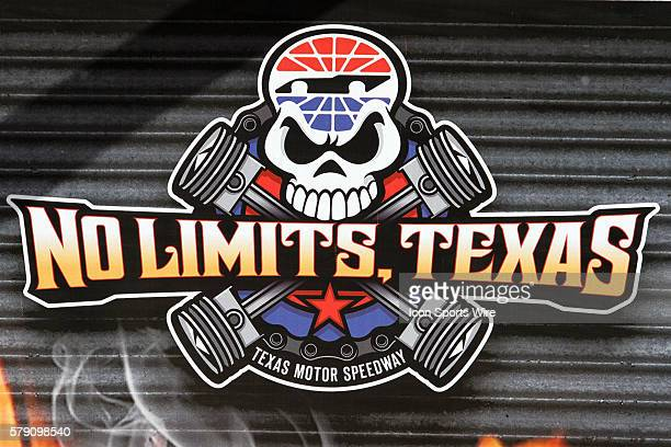 No Limits Texas Logo in Victory Lane during pole award for NASCAR Camping World Truck Series WinStar World Casino 350 at Texas Motor Speedway in Ft...