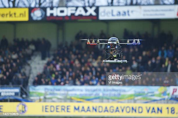 Octocopter during the Dutch Eredivisie match between RKC Waalwijk and PSV Eindhoven at the Mandemakers Stadium on April 11 2012 in Waalwijk...