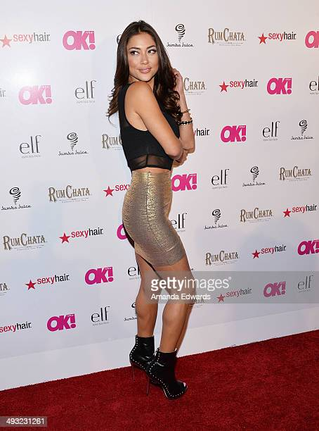 Octogon Girl Arianny Celeste arrives at OK Magazine's 'So Sexy' LA Event at Lure on May 21 2014 in Hollywood California