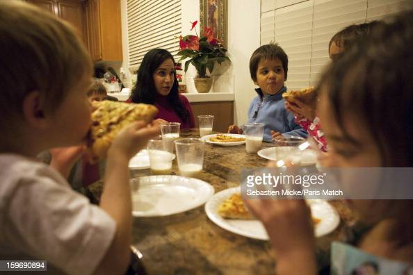 Octomum Nadya Suleman who came to international attention when she gave birth to octuplets in January 2009 is photographed with her children aged 4...
