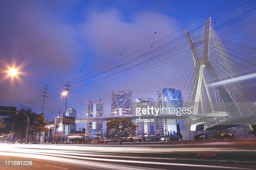 Octávio Frias de Oliveira Bridge in Sao Paulo Brazil