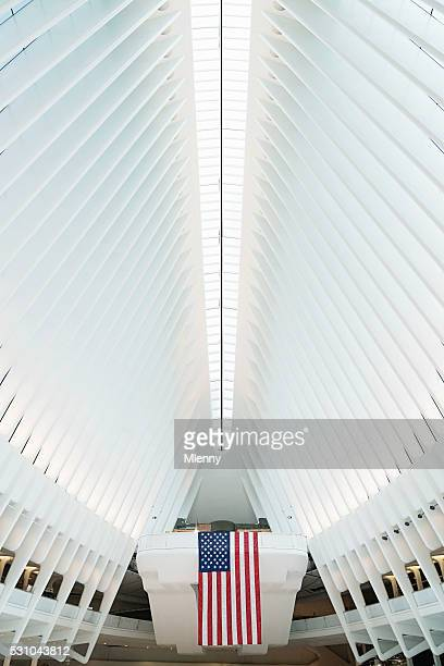 Oculus NYC in New York City WTC Verkehrsknotenpunkt