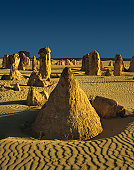 Odd formations, known as The Pinnacles, cover a large area of the desert - Nambung National Park, Western Australia