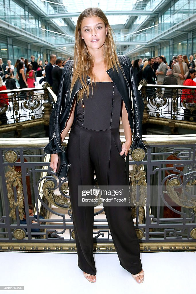 odel Nina Agdal attends the John Galliano show as part of the Paris Fashion Week Womenswear Spring/Summer 2015 on September 28 2014 in Paris France