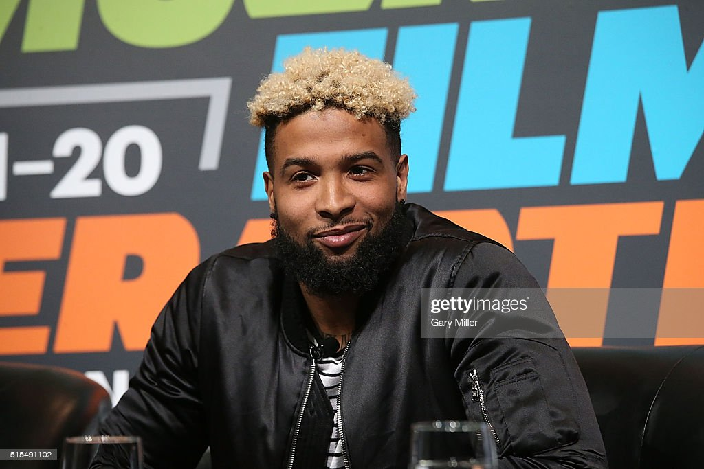Odell Beckham Jr. attends SXSports at the SXSW Film-Interactive-Music festival at Austin Convention Center on March 13, 2016 in Austin, Texas.