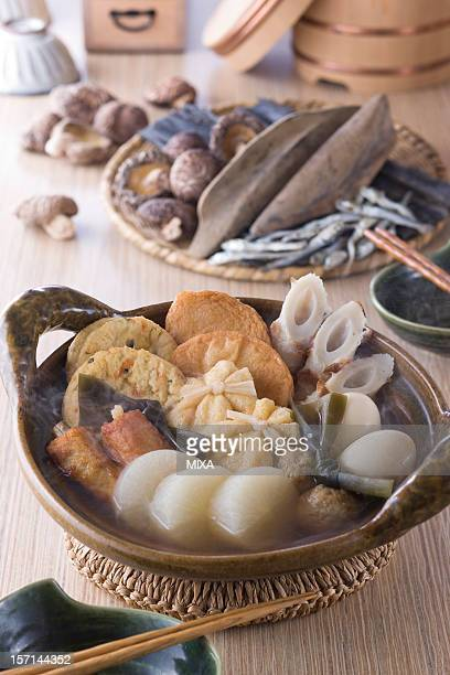 Oden and Ingredients of Dashi