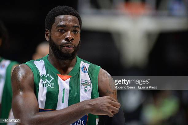 Oderah Anosike of Sidigas looks over during the LegaBasket serie A1 match between Virtus Granarolo Bologna and Sidigas Avellino at Unipol Arena on...
