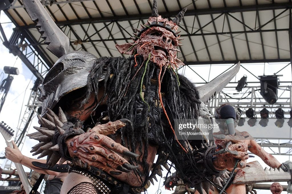 Oderus Urungus and Gwar perform as part of Sounds of the Underground 2006 at Shoreline Amphitheatre on July 29 2006 in Mountain View California