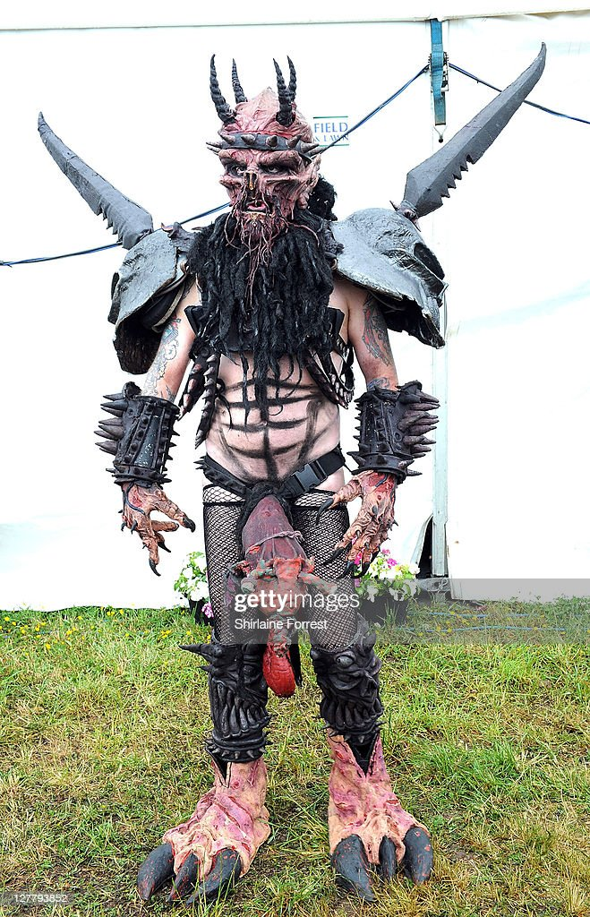 Oderus Urungus of GWAR attends day three of the Download Festival at Donington Park on June 12 2011 in Castle Donington England
