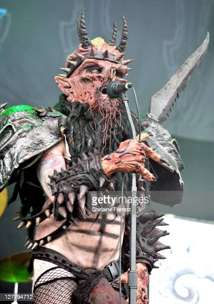 Oderus Urungus of GWAR performs on day three of the Download Festival at Donington Park on June 12 2011 in Castle Donington England