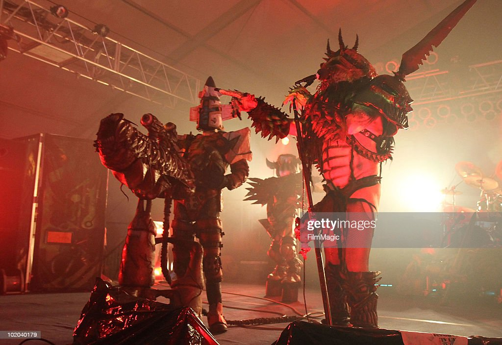 Oderus Urungus of GWAR performs onstage during Bonnaroo 2010 at The Other Tent on June 12 2010 in Manchester Tennessee