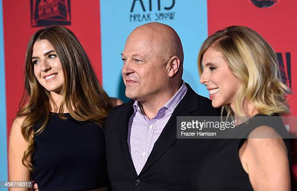 Odessa Chiklis actor Michael Chiklis and Michelle Moran attend FX's 'American Horror Story Freak Show' premiere screening at TCL Chinese Theatre on...