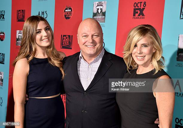 Odessa Chiklis actor Michael Chiklis and Michelle Moran attend the premiere screening of FX's 'American Horror Story Freak Show' at TCL Chinese...