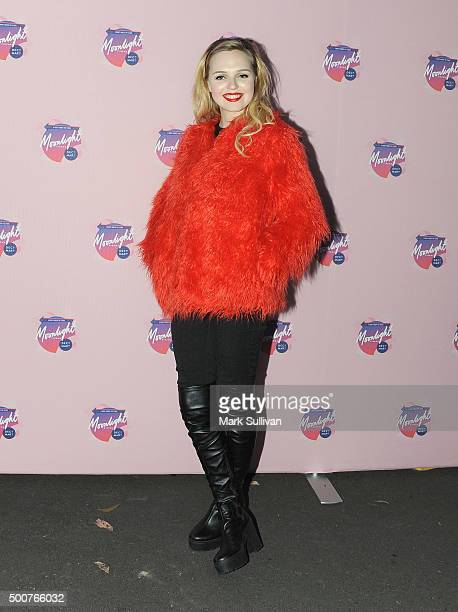 Odessa Young arrives ahead of Moonlight Cinema Opening Night at Centennial Park on December 10 2015 in Sydney Australia