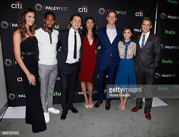 Odette Annable Aaron Jennings Augustus Prew Reshma Shetty Ward Horton Brenda Song and Dermot Mulroney attend The Paley Center for Media's PaleyFest...