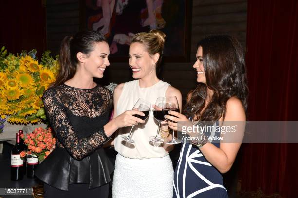 Odette Annable Leslie Bibb and Katie Lee attend as Clos Du Bois Winery Celebrates The Launch Of Rouge on August 15 2012 in New York City