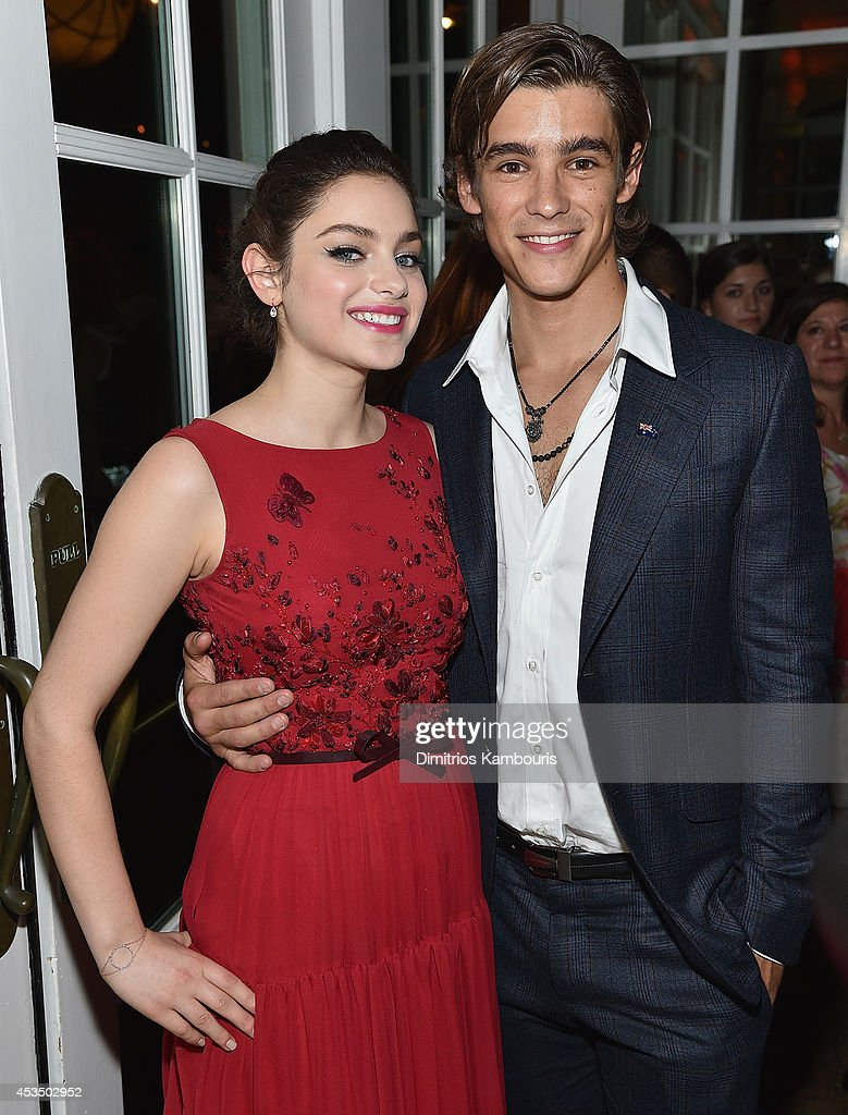 Odeya Rush and Brenton Thwaites attends 'The Giver' premiere after party on August 11 2014 in New York City