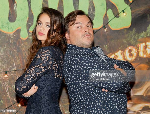 Odeya Rush and Jack Black attend Sony Pictures photo call for 'Goosebumps' at The London West Hollywood on October 2 2015 in West Hollywood California