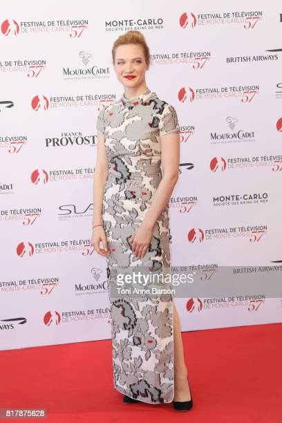 Odile Vuillemin arrives at the Opening Ceremony of the 57th Monte Carlo TV Festival and World premier of Absentia Serie on June 16 2017 in MonteCarlo...