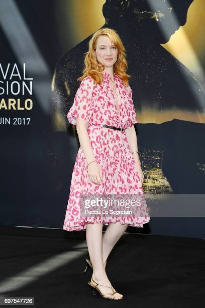 Odile Vuillemin attends a photocall during the 57th Monte Carlo TV Festival Day 4 on June 19 2017 in MonteCarlo Monaco