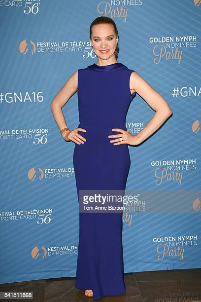 Odile Vuillemin attends the Golden Nymph Awards Nominee Party as part of the 56th Monte Carlo Tv Festival at the Monte Carlo Bay Hotel on June 15...