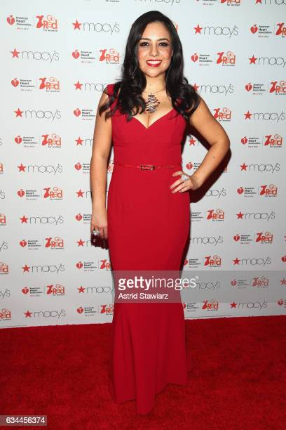 Odilia Flores attends the American Heart Association's Go Red For Women Red Dress Collection 2017 presented by Macy's at Fashion Week in New York...