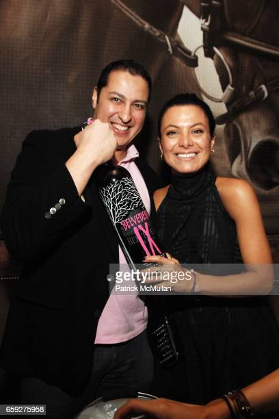 Odin Erickson and Renata Ferriam attend PATRICK MCMULLAN Hosts The Late Night Party Sponsored by BELVEDERE IX at 1OAK on February 10 2009 in New York...