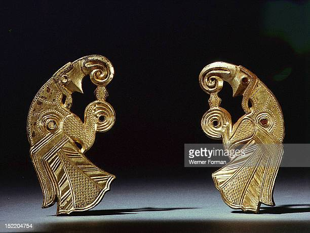 Odins birds a pair of harness mounts from Gotland The exaggerated beaks and talons emphasize the ferocity of the eagles which were widely associated...