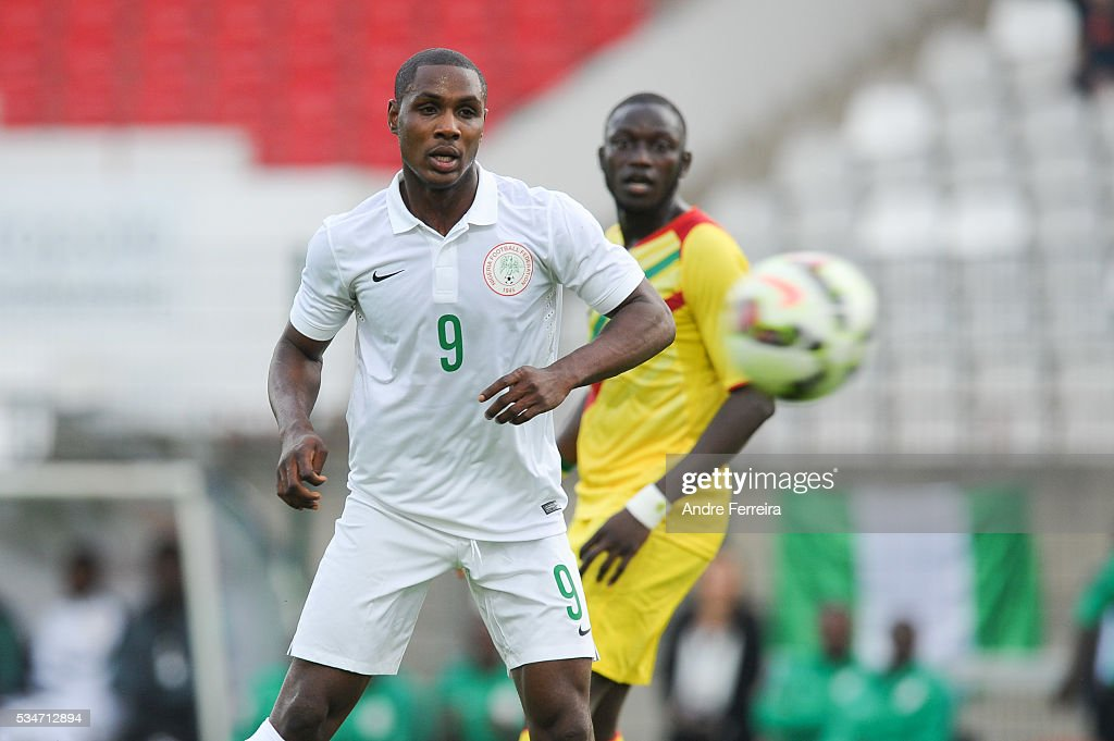 Odion Ighalo of Nigeria during an International Friendly match between Nigeria and Mali on May 27, 2016 in Rouen, France.