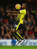 Odion Ighalo of Watford controls the ball during the Barclays Premier League match between Watford and Liverpool at Vicarage Road on December 20 2015...
