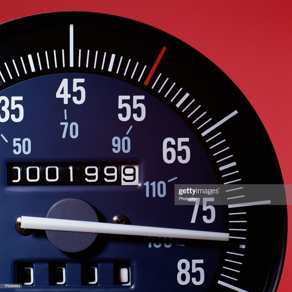 Odometer Showing Year 1999