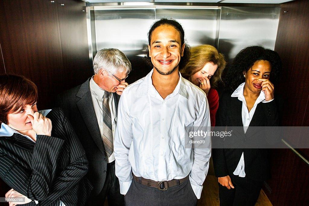 Odor in the elevator
