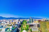 Odori Park in Hokkaido Japan