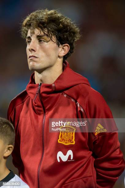 Odriozola during the qualifying match for the World Cup Russia 2018 between Spain and Albaniaat the Jose Rico Perez stadium in Alicante Spain on...